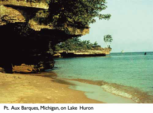 Pt. Aux Barques, Michigan, on Lake Huron