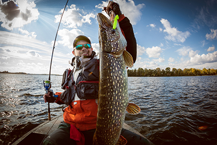Fisherman with Pike