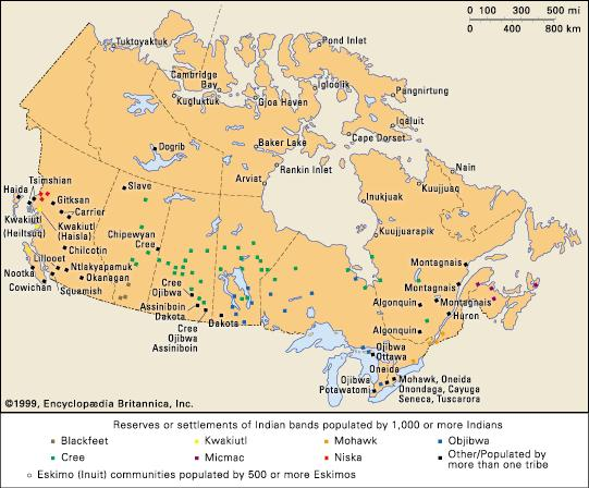 Native American Reservation In Canada Map Native Peoples of the Great Lakes Region | EEK Wisconsin